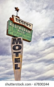 Decayed Desert Motel Sign