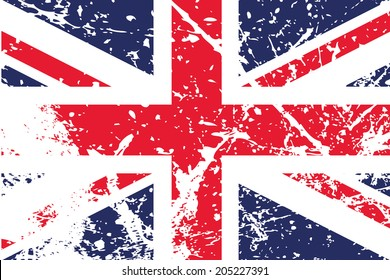 Decayed flag of the United Kingdom