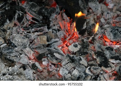 Decaying coals