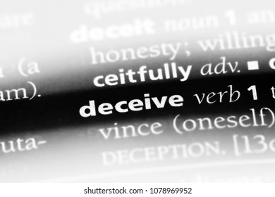 deceive word in a dictionary. deceive concept
