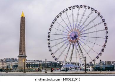December 02, 2016, Paris, France, one of the most important squares in Paris, Place de la Concorde