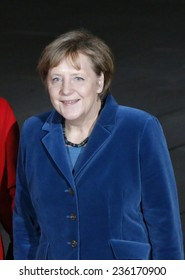 DECEMBER 1, 2014 - BERLIN: SChancellor Angela Merkel before a meeting with the King and Queen of Spain in the Chanclery in Berlin.