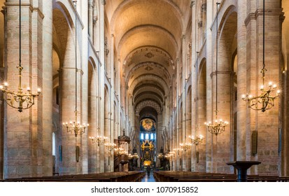 December 10, 2015: Interior of the Saint Sernin basilica in Toulouse in Occitania, France