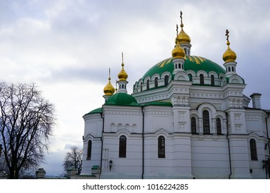 December 10th 2017 - Kiev, Ukraine. Kiev Monastery of the Caves, is a historic Orthodox Christian monastery which gave its name to one of the city districts where it is located in Kiev.