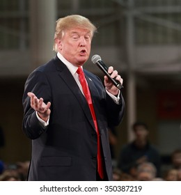 DECEMBER 11, 2015-DES MOINES, IOWA Donald Trump gestures