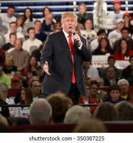DECEMBER 11, 2015-DES MOINES, IOWA Donald Trump in Iowa