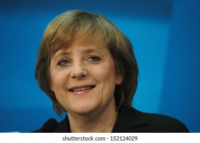 DECEMBER 13, 2004 - BERLIN: Chairwoman of the Christian Democratic Party (CDU), Angela Merkel during a press conference in the Konrad-Adenauer-House in Berlin.