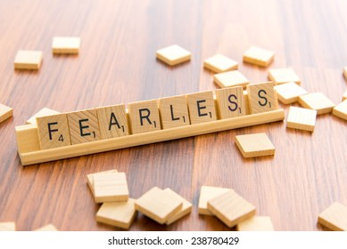December 14, 2014: Houston, TX, USA - Scrabble tiles - FEARLESS