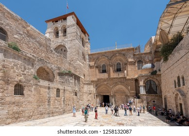 December 14th 2018 - View of church of the Holy Sepulchre, Jerusalem, Israel