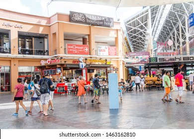 December 17th 2017 - Phuket, Thailand: People shopping and eating in restaurants. This is in the Jung Ceylon shopping centre in Patong.
