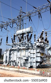 DECEMBER 2, 2016 ; LOPBURI - THAILAND : Transformer is a device used to increase or decrease the voltage in high voltage stations