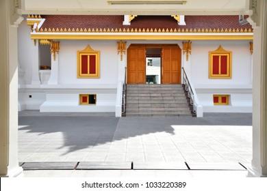 December 2, 2017 - inside area of Wat Thart Thong, a Buddhist temple (Wat, in Thai), located in Phar Khanong, Khlong Toei, Bangkok, Thailand