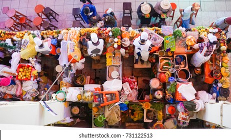 December 20 2016. Arequipa Main Market, Peru. The largest market in Arequipa where locals source all their product, meats and basic spices. There is a growing tourist section.