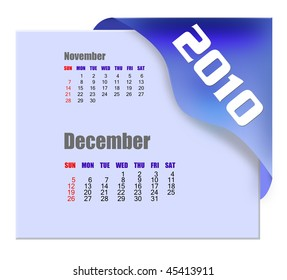 December of 2010 Calendar