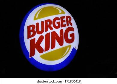"DECEMBER 2013 - BERLIN: the logo of the brand ""Burger King"", Berlin."