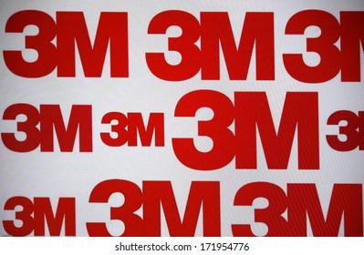 "DECEMBER 2013 - BERLIN: the logo of the brand ""3M"", Berlin."