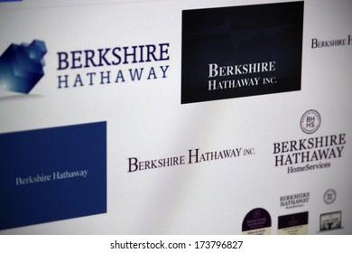 "DECEMBER 2013 - BERLIN: the logo of the brand ""Berkshire Hathaway""."