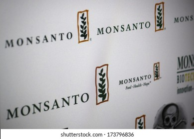 "DECEMBER 2013 - BERLIN: the logo of the brand ""Monsanto""."