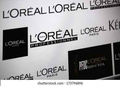 "DECEMBER 2013 - BERLIN: the logo of the brand ""L'Oreal""."