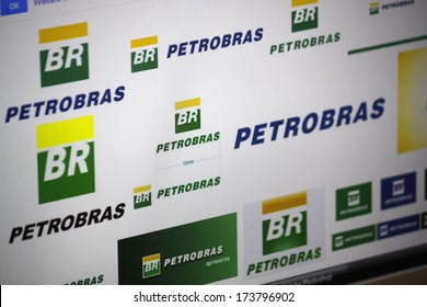 "DECEMBER 2013 - BERLIN: the logo of the brand ""Petrobras""."