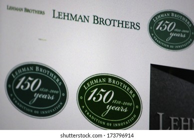 "DECEMBER 2013 - BERLIN: the logo of the brand ""Lehman Brothers""."