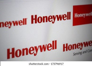 "DECEMBER 2013 - BERLIN: the logo of the brand ""Honeywell""."