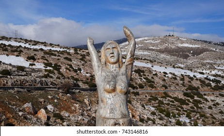 December 2016: The Park of Souls is a gallery of wooden sculptures made of tree trunks dedicated to the memory of the hospitalised patients who lived in the sanatorium of Parnitha, Attica, Greece
