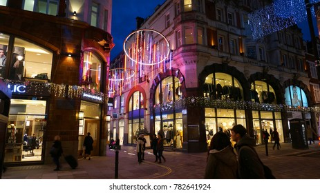 December 2016: Photo from famous Covent garden at Christmas time, London, United Kingdom