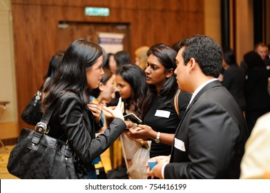 December 2016,Kuala Lumpur,Malaysia.Group of business men and women at hi-tea event.Speed networking event.