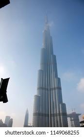 DECEMBER 2017 - DUBAI: the tallest building in the world, the Burj al Khalifa, Downtown, Dubai.