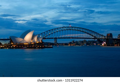 DECEMBER 2017 - SYDNEY: Harbour Bridge, Opera House of Sydney, Australia.