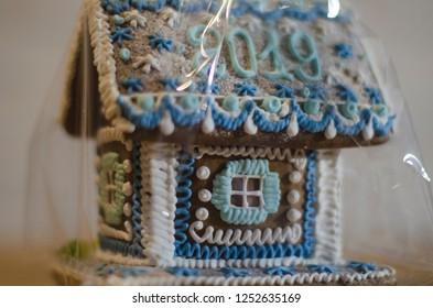 December, 2018 - Arkhangelsk. Gingerbread house. Russia, Arkhangelsk