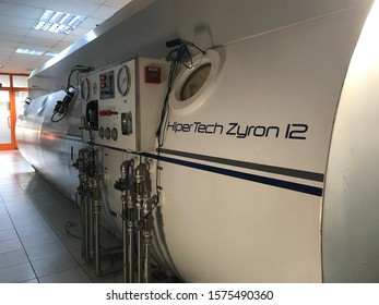December 2019. Istanbul, Turkey. A multiplace hyperbaric chamber in Istanbul university hospital