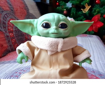 DECEMBER 2020: The Child or baby Yoda, fictional character from the TV series The Mandalorian.