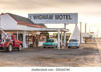 December 21, 2014 - Wigwam Hotel, Holbrook, AZ, USA: teepee hotel rooms