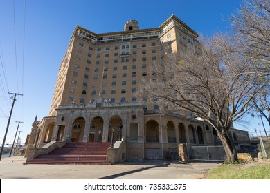 December 24, 2015 Mineral Wells, Texas, USA: plans were announced to renovate and reopen  the building of long time abandoned Baker Hotel