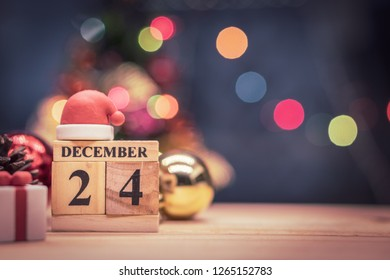 December 24th, christmas eve, date on calendar