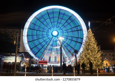 December 25, 2018: Messina Sicily is a month long Christmas lights and decorations display at Messina.