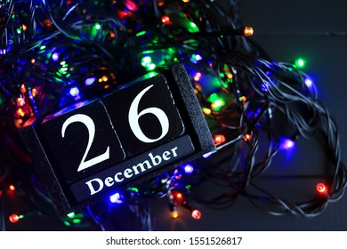 December 26, December twenty-six, New year composition. Holiday concept New Year greeting card.