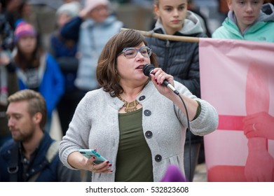 December 3, 2016: Portland Women March Against Hate, city councilor, speaks at the event; Directors Park, downtown Portland, OR.