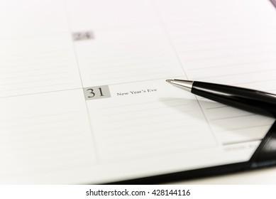 December 31 on Calendar schedule paper