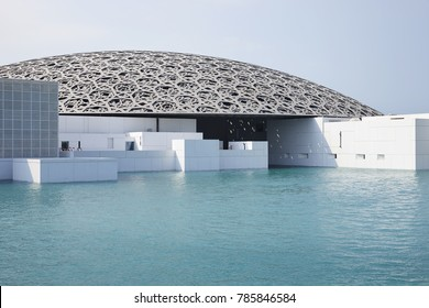 DECEMBER 3rd 2017: Exterior of the Louvre Museum in Abu Dhabi, United Arab Emirates