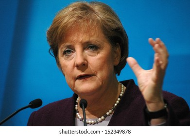 DECEMBER 5, 2005 - BERLIN: Chancellor Angela Merkel at a press conference in the Konrad Adenauer House in Berlin.