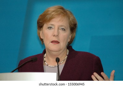 DECEMBER 5, 2005 - BERLIN: Chancellor Angela Merkel at a press conference in the Konrad-Adenauer-Haus, Berlin.