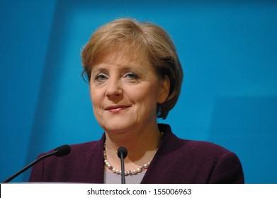 DECEMBER 5, 2005 - BERLIN: Chancellor Angela Merkel at a press conference in the Konrad-Adenauer-Haus, Berlin.