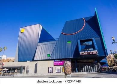 December 6, 2017 San Jose / CA / USA - Susan and Phil Hammer Theatre Center in downtown San Jose, near San Jose State University, south San Francisco bay, California