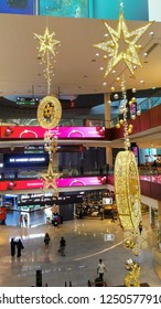 December 6th 2018, Dubai UAE, christmas decorations in Dubai Mall