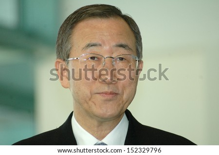 DECEMBER 7, 2006 - BERLIN: Secretary-General of the United Nations Ban Ki-Moon at a meeting with the German Chancellor in the Chanclery in Berlin.