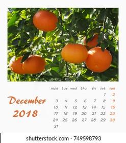 Valencia Calendar.Wall Calendar Template 2018 Stock Photos Images Photography