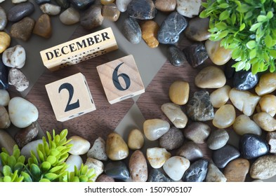 December month, Appointment design in natural concept, Date 26.